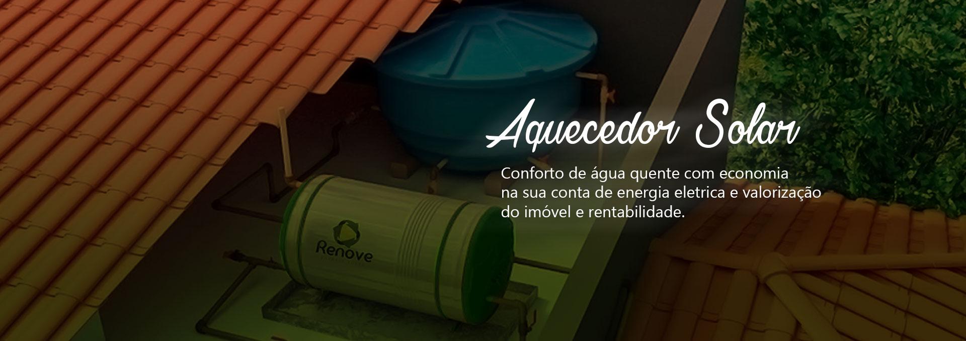 Aquecedor de água solar que produz energia limpa e barata